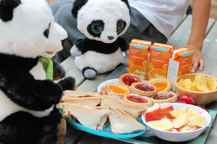 teddy bears picnic with pandas