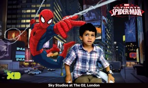 spiderman pictures at sky studios