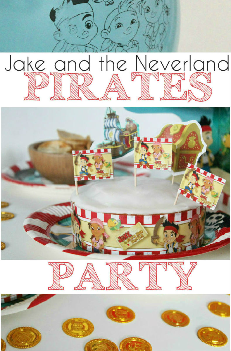 Jake and the neverland pirates party and cake