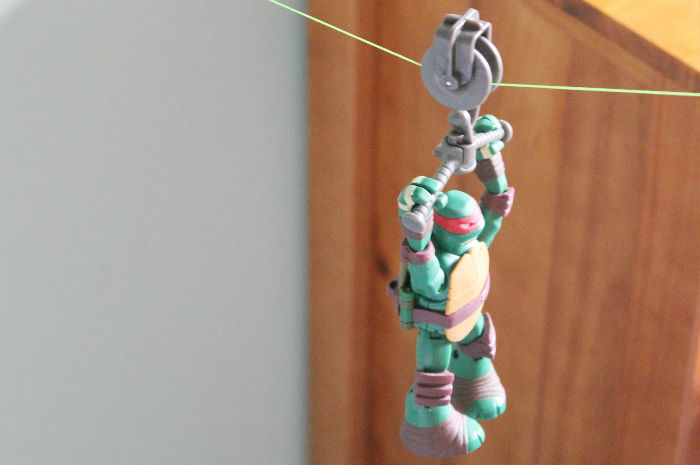 Teenage mutant ninja turtles zip line