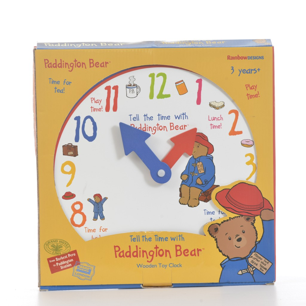 Learn to tell the Time with Paddington Wooden Clock (RRP£12.99)