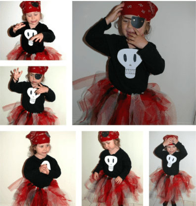 girls pirate tutu costume from red ted art