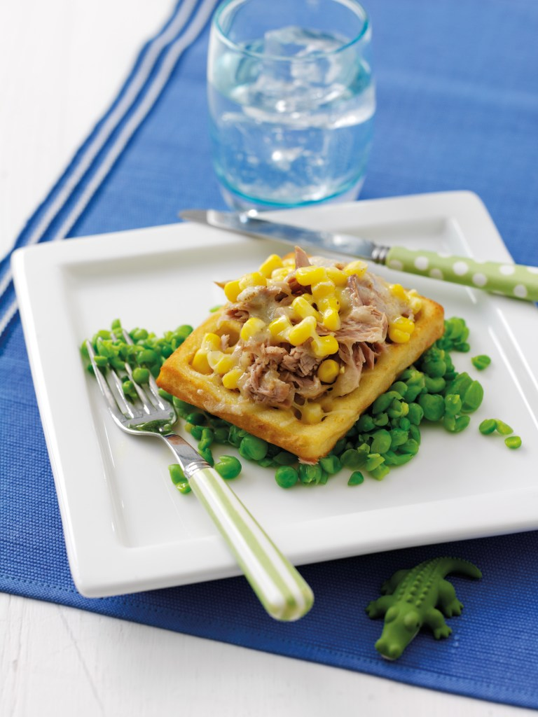 Waffle submarine kid friendly meal idea
