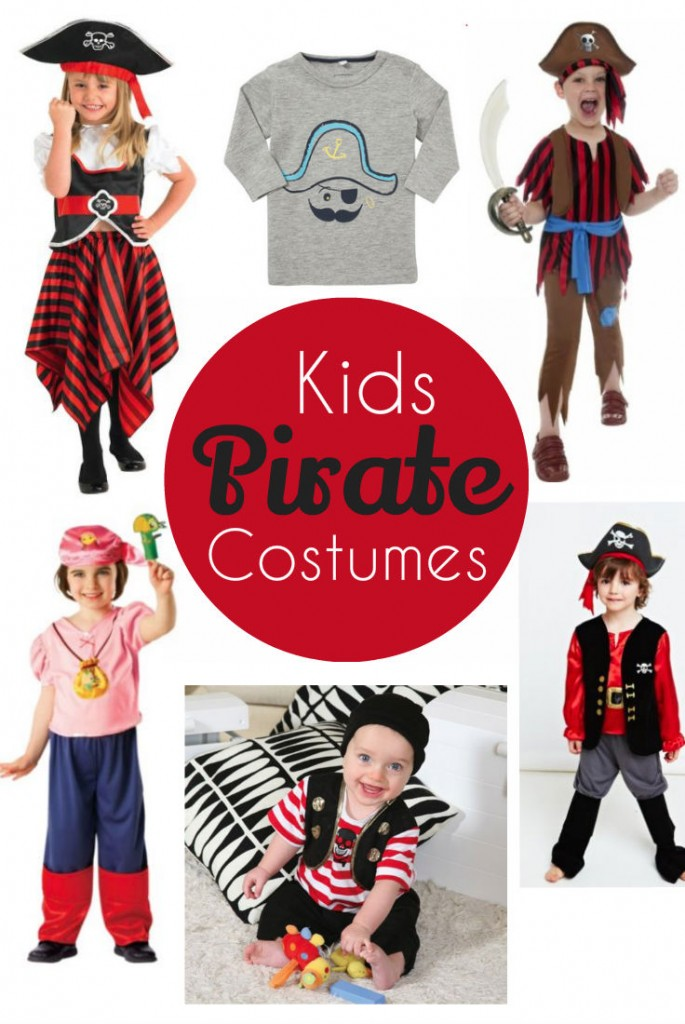 "kids pirate costumes - great ideas for Halloween, birthdays, world book day, talk like a pirate day or just plain ""for no reason"" fun!"