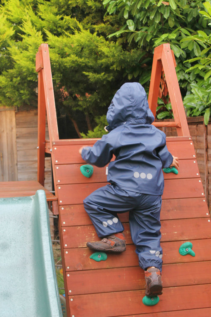 kozi kids essential rainwear waterproof suits for outdoors play in autumn and winter on rainy days