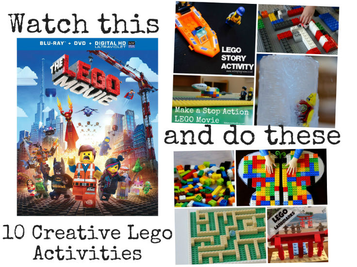 Lego movie inspired activities. 10 fun and creative activities for your kids to do while they are even more excited about Lego after watching the movie