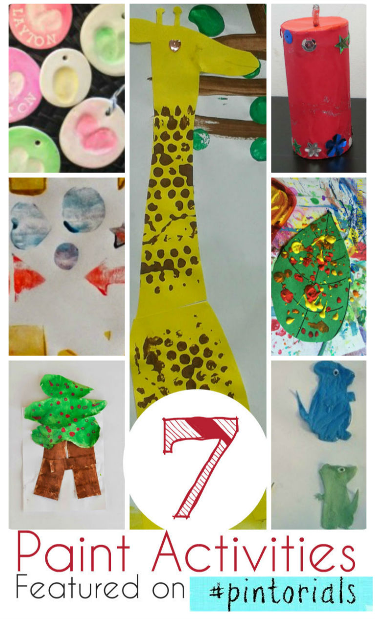 7 paint activities and paint crafts for kids good for after school or rainy days