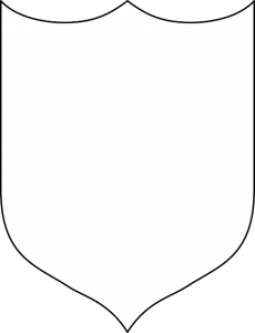 plain knights shield template