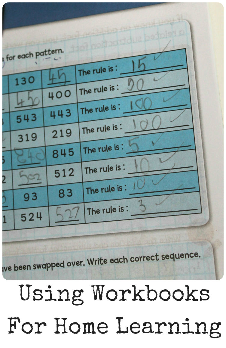 Using workbooks to help with home learning for kids