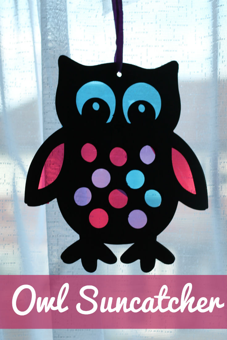 Stained Glass Style Owl Sun Catcher In The Playroom