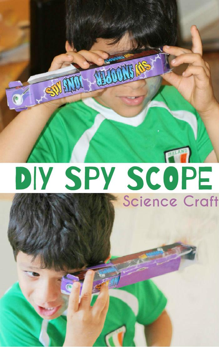DIY Spy scope craft. How to make a simple periscope