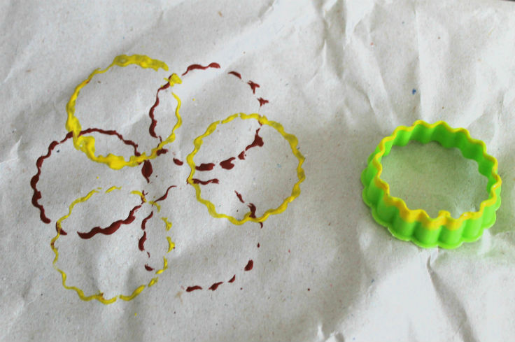 paint printing with cookie cutters