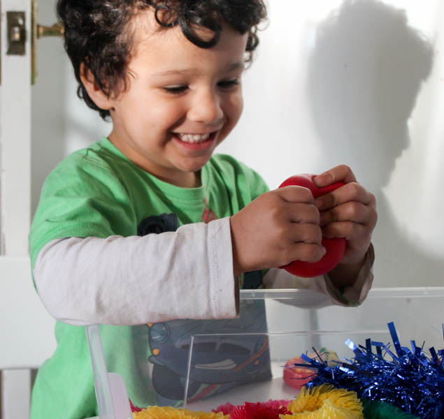 squishy sensory play