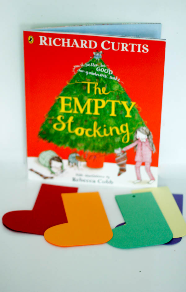 "Kids stocking craft made to go along with the Christmas book ""The Empty Stocking"" #ad"