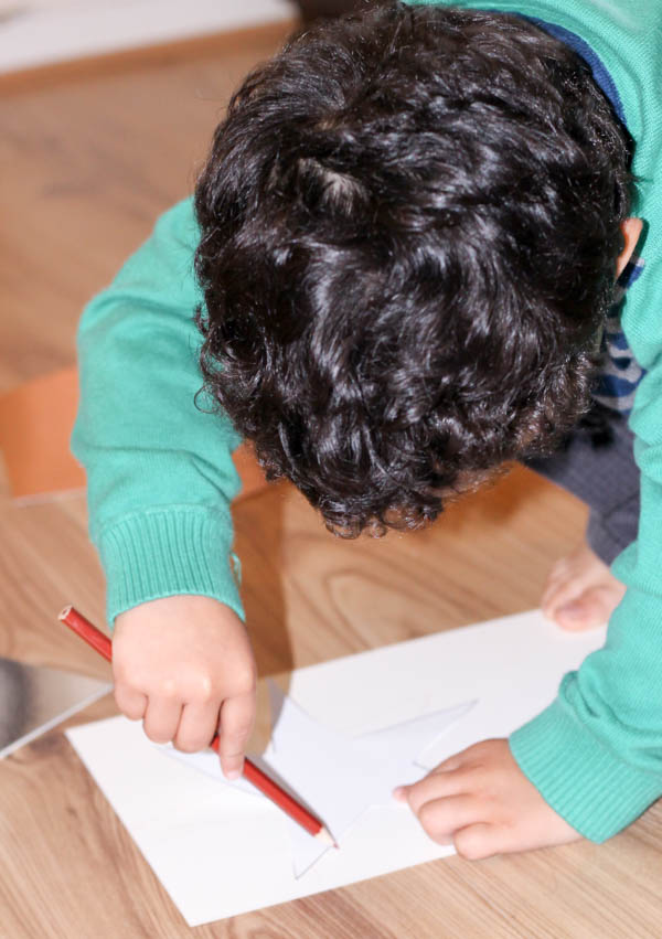 how to make a star garland step 1