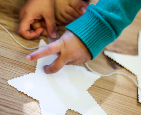 how to make a star garland step 5