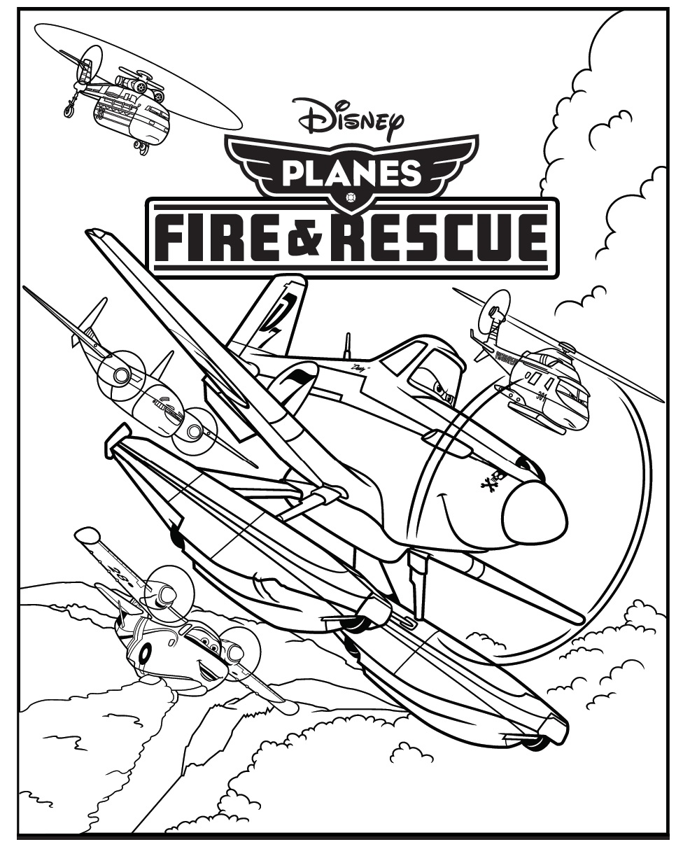 Free dusty planes coloring pages
