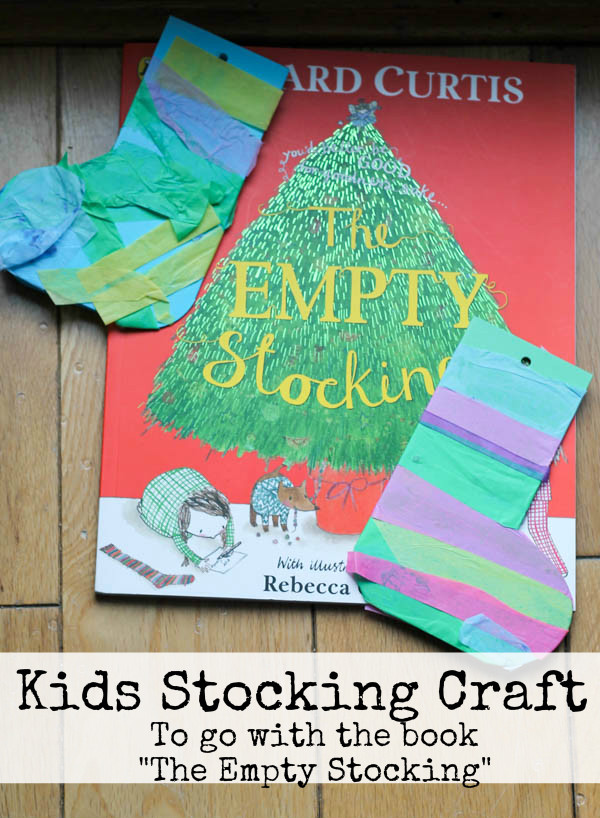 "Easy kids Christmas craft to go along with the book ""The Empty Stocking"" #ad"