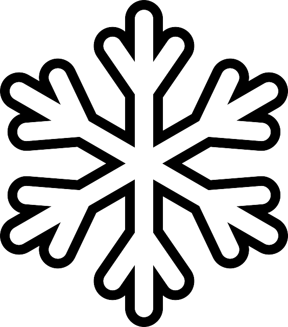 snowflake colouring sheet printable with chunky outlines