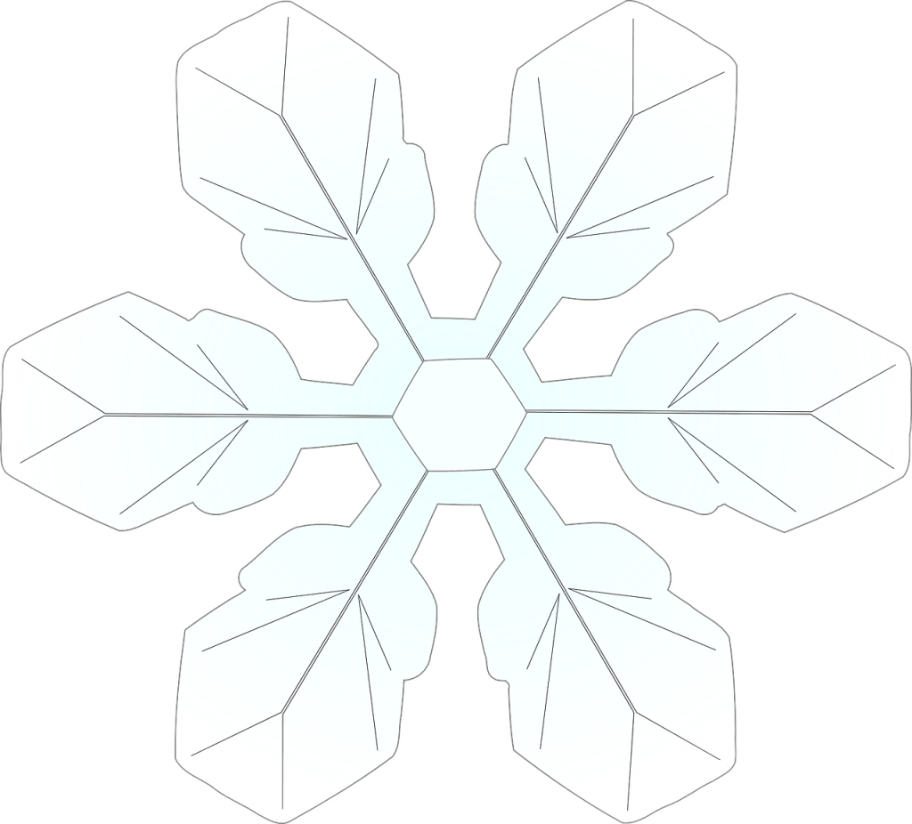 Printable snowflake template for kids to decorate