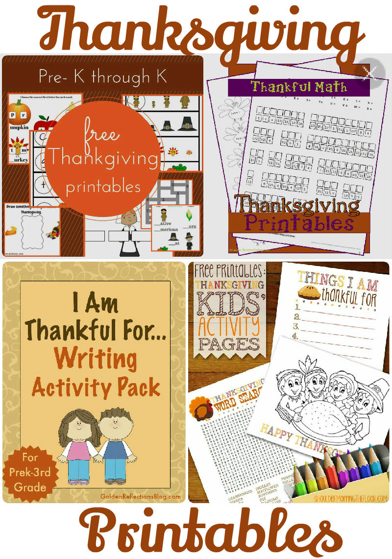 Free fall and thanksgiving printables