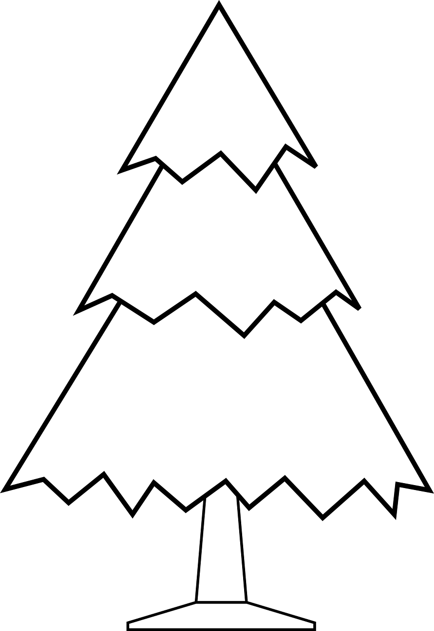 Printable Christmas tree template