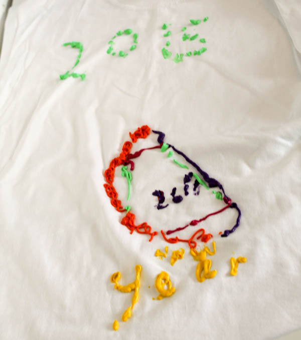 2015 new year t shirt kid activity