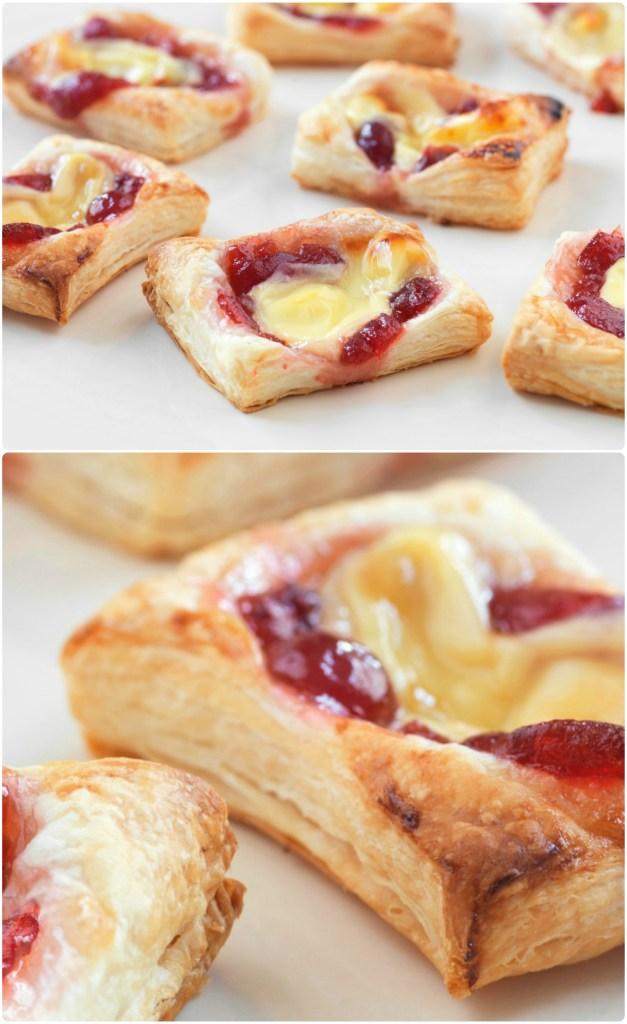 mini cranberry cheese puffs recipe