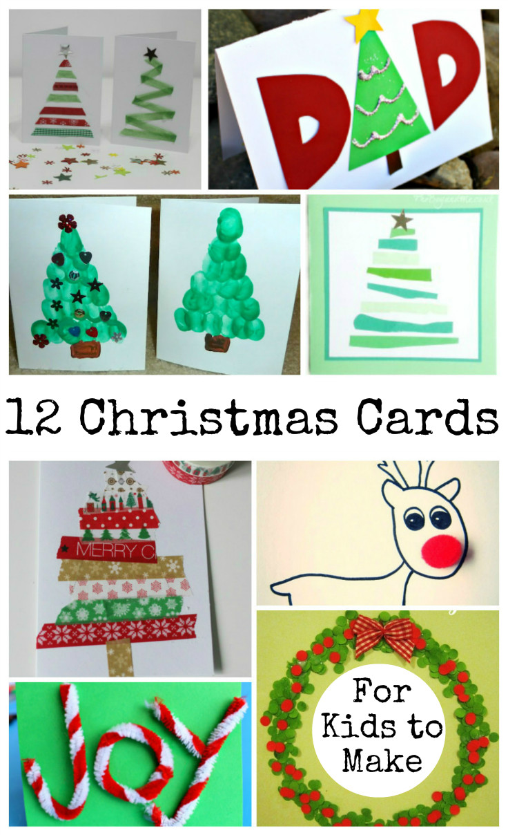 12 easy and fun Christmas card ideas for kids to make