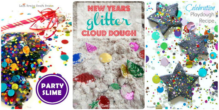 new years themed sensory play