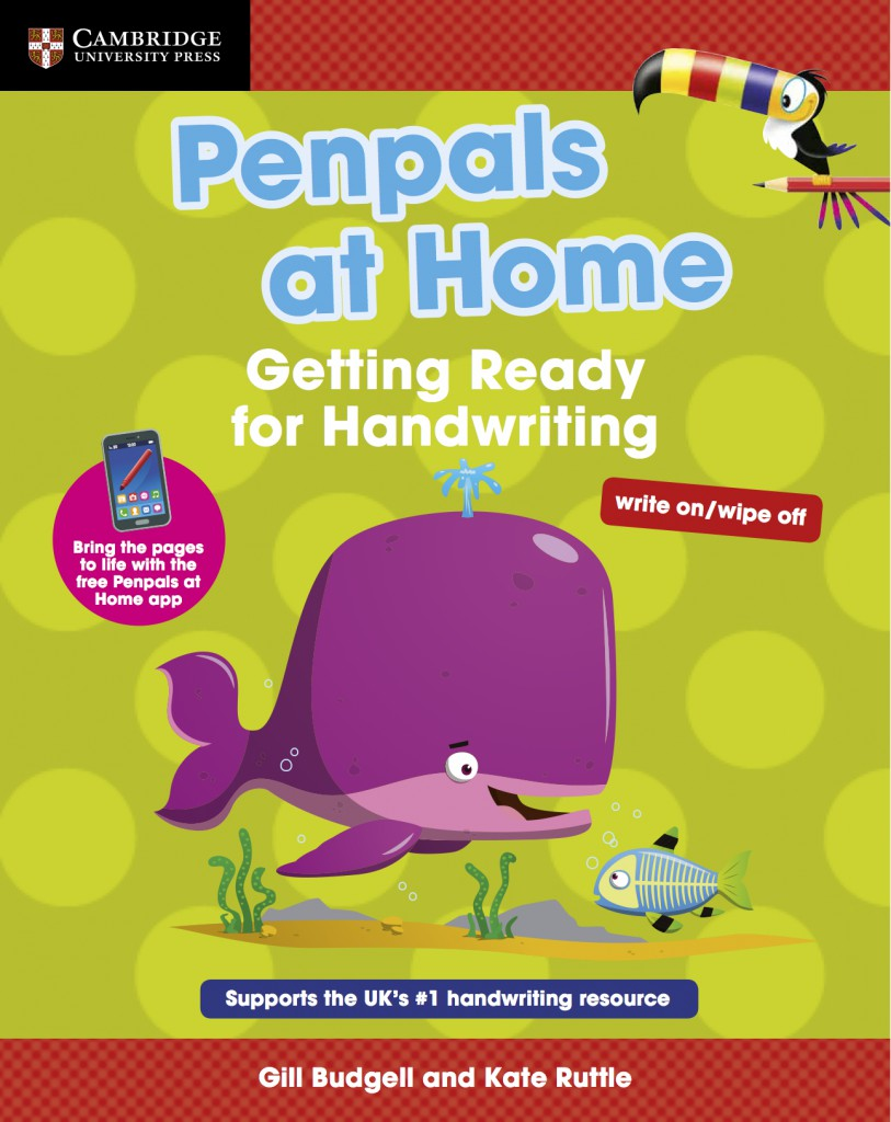 Penpals at home getting ready for handwriting