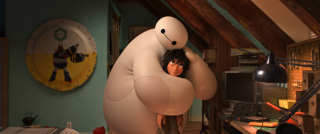 BIG HERO 6 Baymax and Hiro hugging