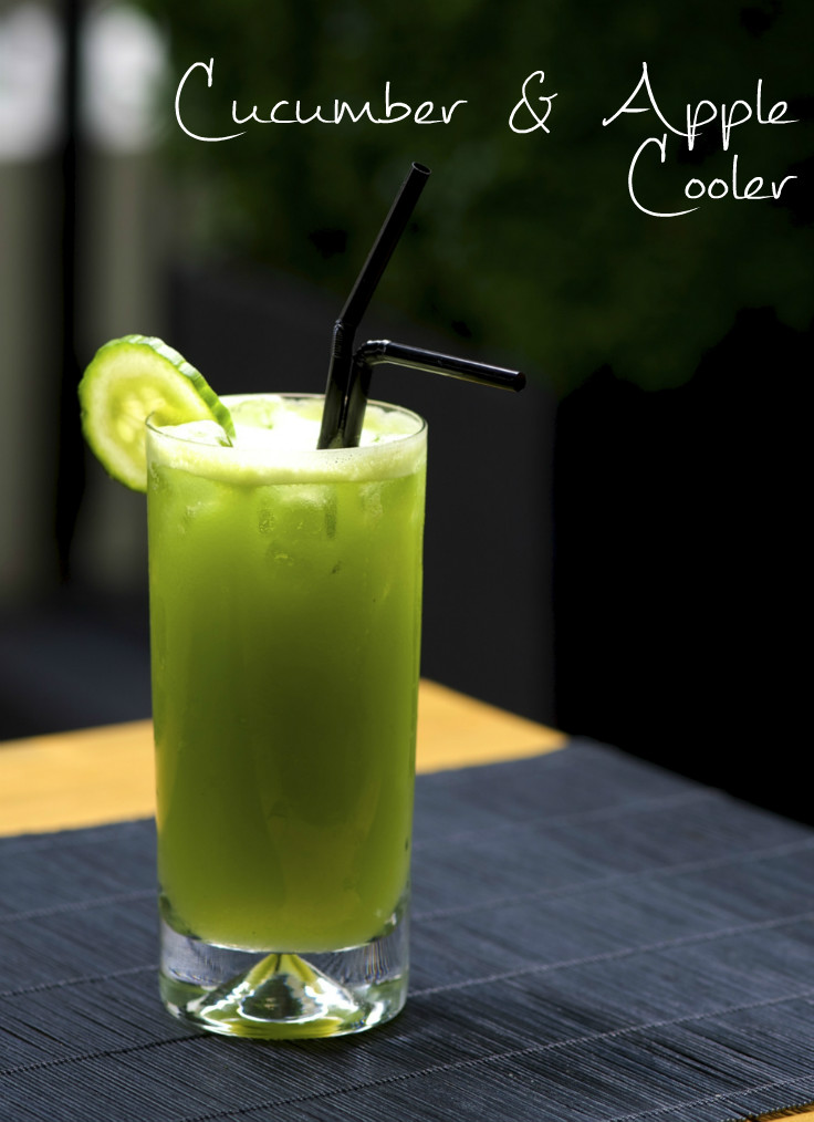 cucumber apple mocktail healthy juice recipe