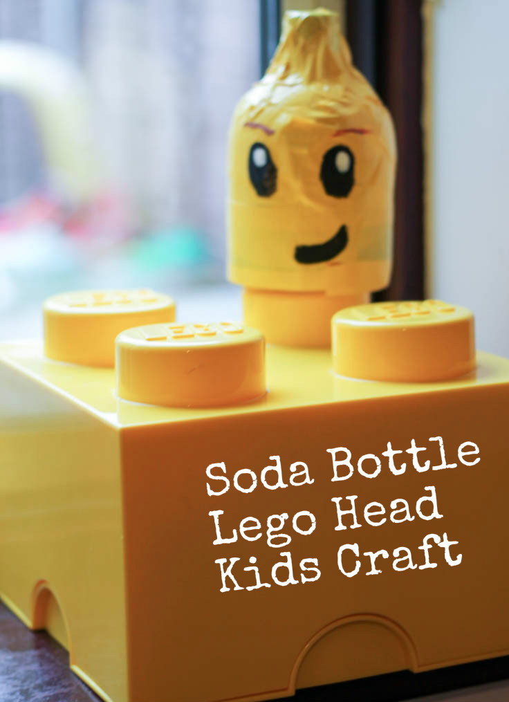 Soda Bottle Lego Head Duct Tape Craft
