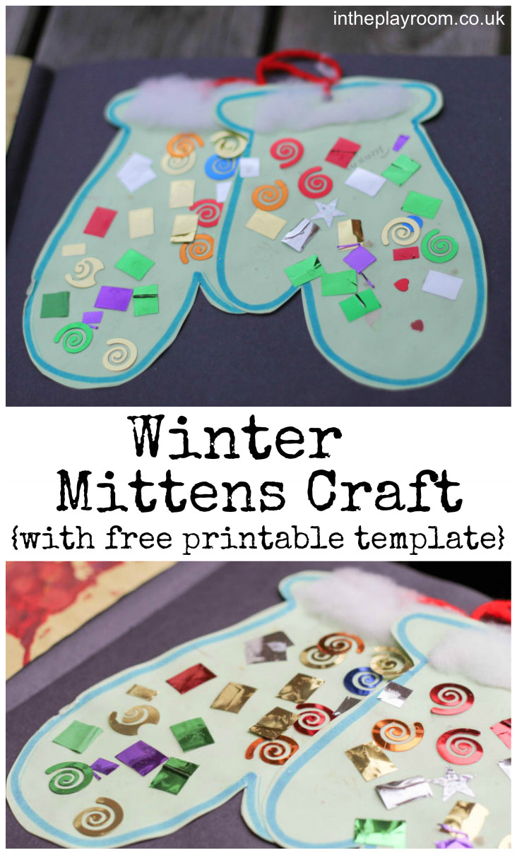 winter toddler crafts winter mittens craft in the playroom 3238