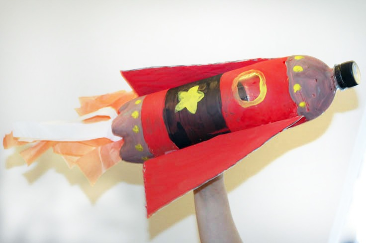 Soda bottle rocket craft