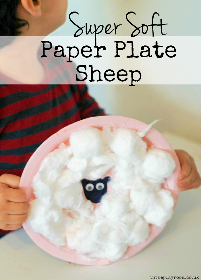 Super Soft Paper Plate Sheep Craft - In The Playroom