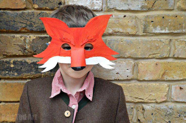 Fantastic Mr Fox mask costume idea for world book day