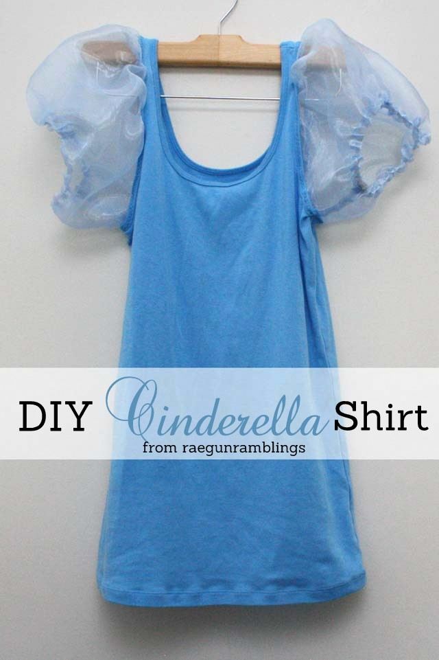diy cinderella shirt for a cinderella costume