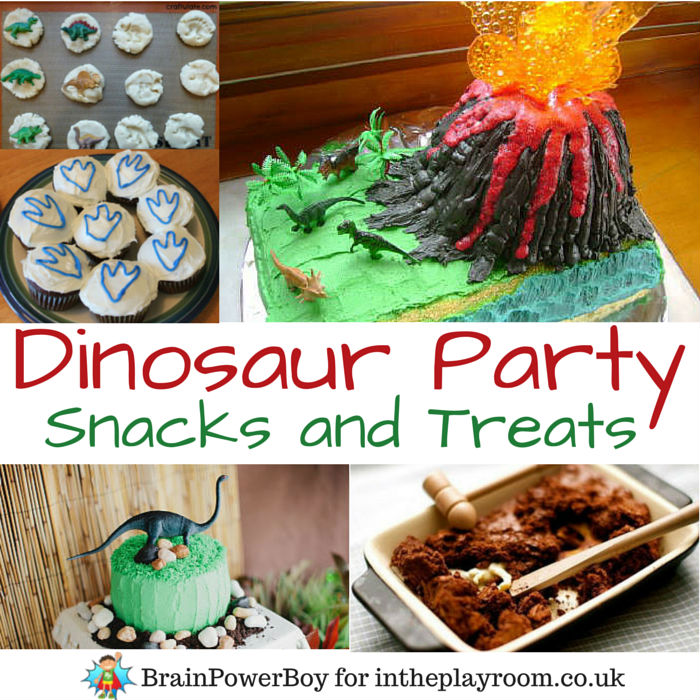 Dinosaur Party Foods and Dinosaur Birthday Cake Ideas