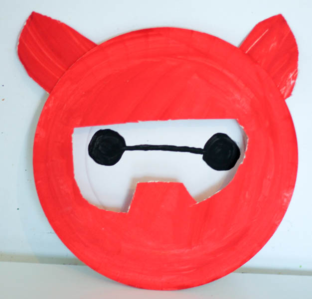 disney big hero 6 paper plate baymax craft
