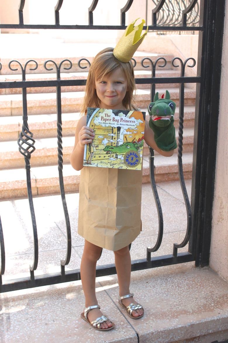 the paper bag princess world book day costume idea