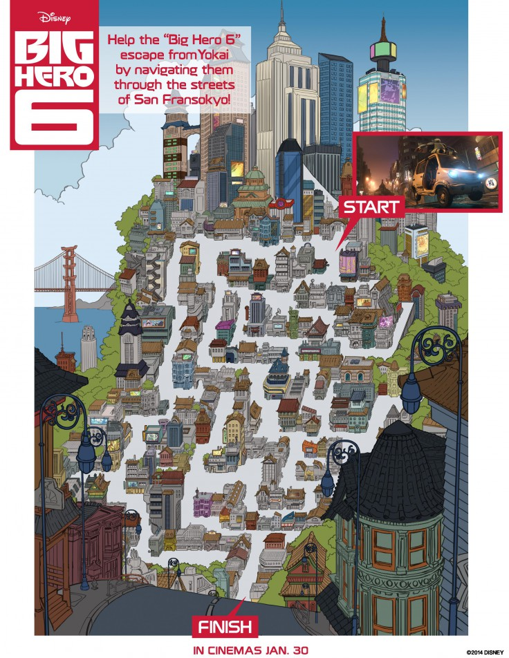 Big Hero 6 San Fransokyo Maze activity printable