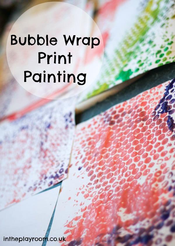 bubble wrap print painting process art activity