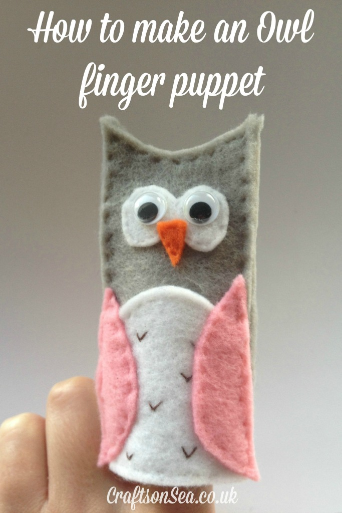 how to make an owl finger puppet from crafts on sea