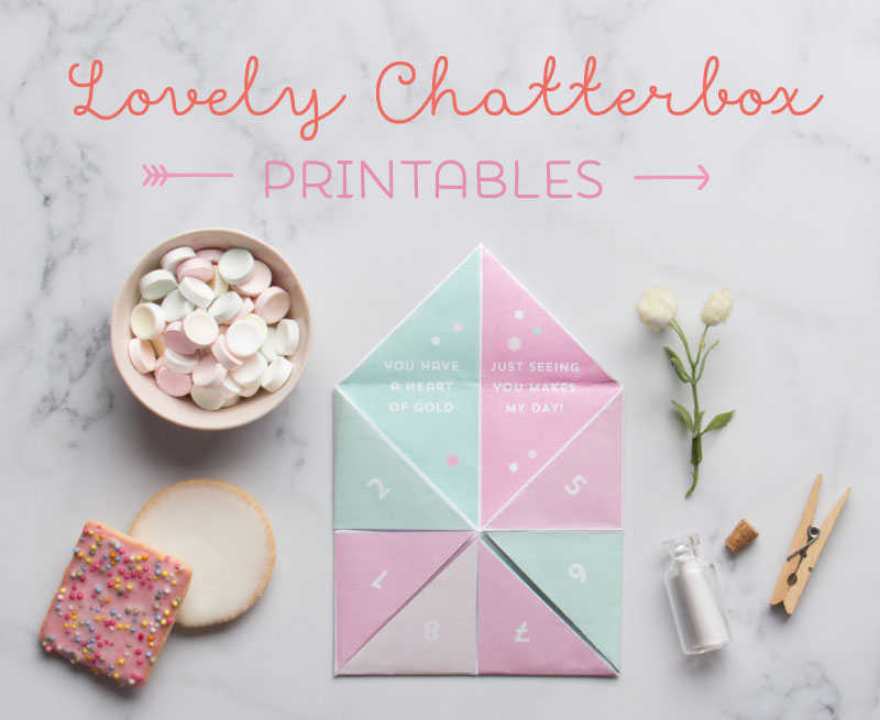 Valentines Chatterbox Printable In The Playroom