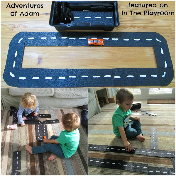 DIY Car Track Busy Bag for In The Playroom