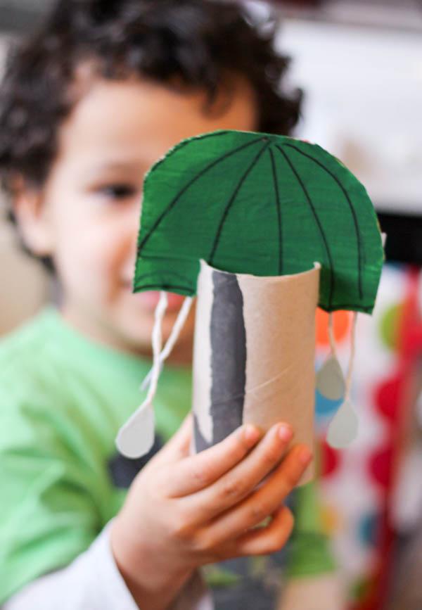 green umbrella craft