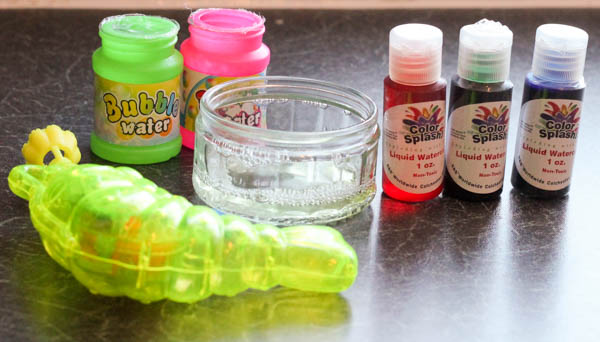 supplies for bubble painting