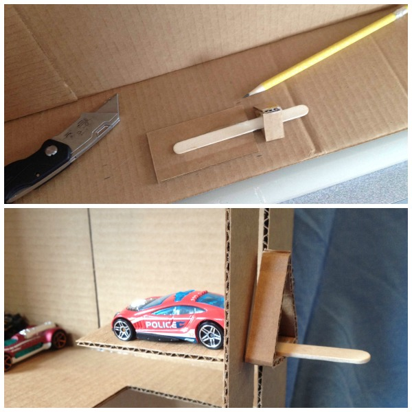 How to make a cardboard parking garage with working elevator